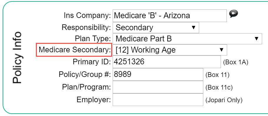 Medicare Secondary Payer Msp Code Therabill