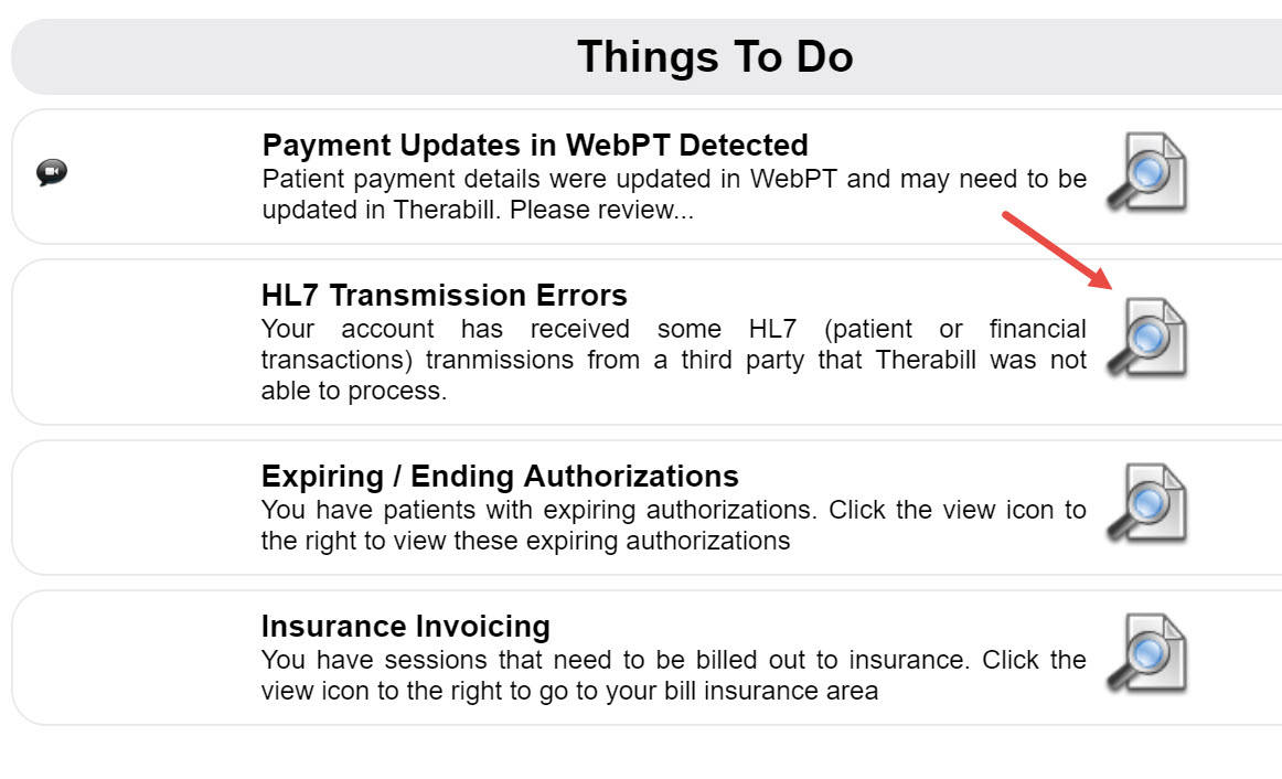 HL7 Transmission Errors – Therabill
