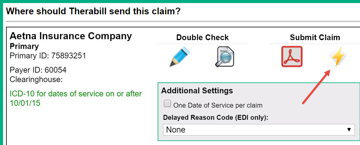 How to Create an Electronic Claim – Therabill